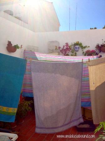 Hanging Laundry- Andalucia Bound