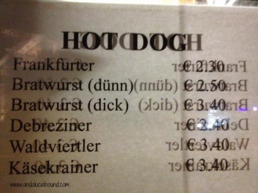 Vienna Hot Dog Sign