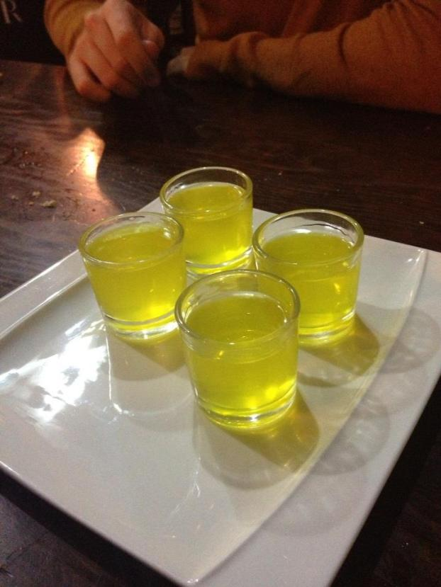 Shots of Limoncello