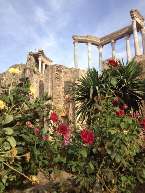 Merida ruins flowers